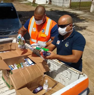 Defesa Civil entrega os produtos às casas de acolhimento