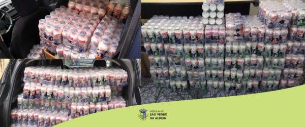 doação de iogurtes para instituições